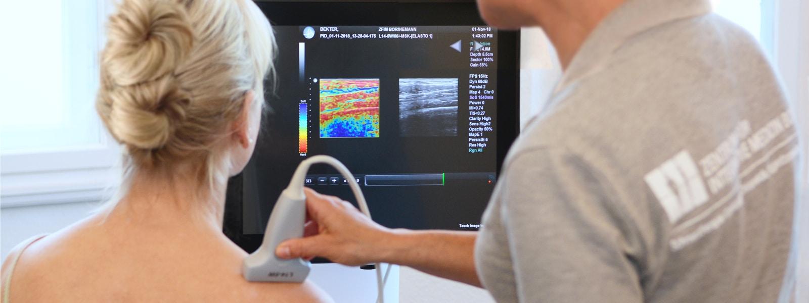Elastografie-Diagnose, Praxis Borneman, Lübeck